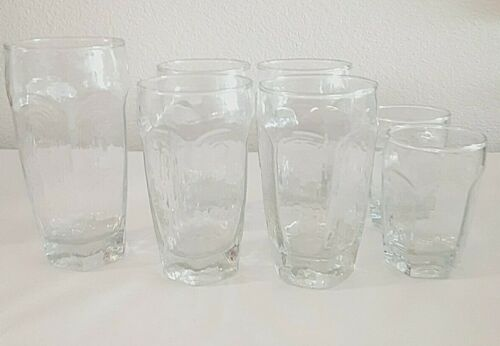 Vintage Set of 7 Libbey Chivalry Tumblers Juice Glasses