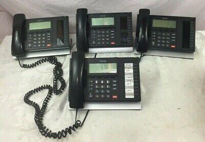 Lot Of 4 Toshiba Digital Business Multi-line Telephone Model Dp5022-sd