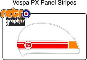 Circle Side Panel Stripes Fits Vespa PX Mod stickers, Scooter stickers Mod Scoot