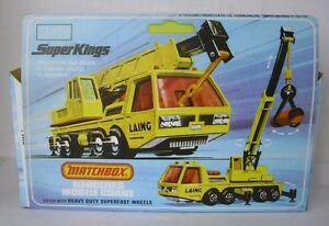 Repro Box Matchbox SuperKings K-12 Hercules Mobile Crane