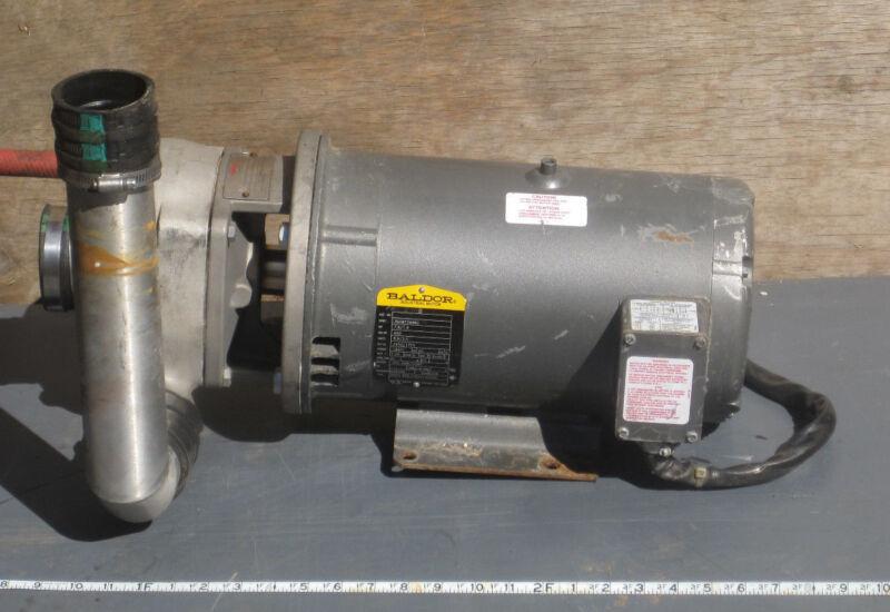 FLOWSERVE 2X1.5X5 BALDOR HORIZONTAL MOTOR CENTRIFUGAL PUMP 7.5HP 460V