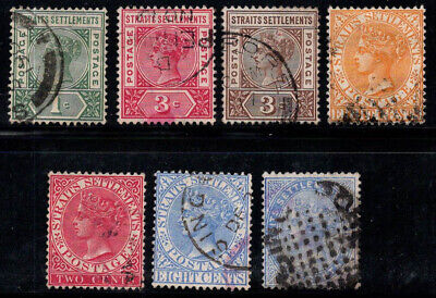 Straits Settlements 1882--1892 Used 100% Queen Victoria, celebrity