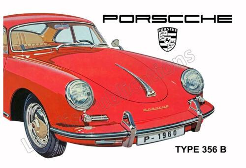 Porsche Type 356 1960 Vintage Poster