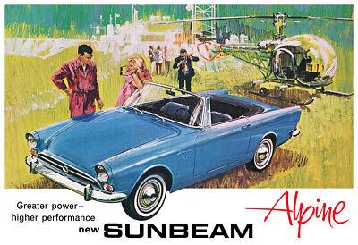 1965 Sunbeam Alpine Sports Car Vintage Poster