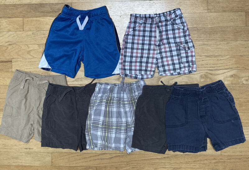 Lot Of 7 Toddler Boy Shorts Jumping Beans Circo Izod 24 Months 2T