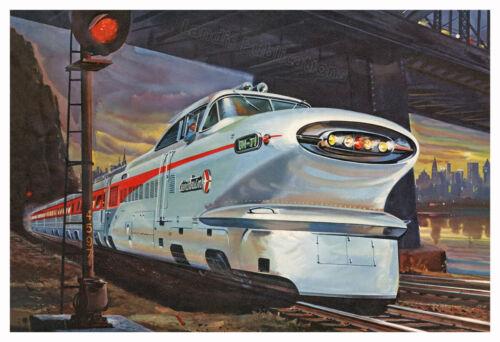 GM Aerotrain Union Pacific Railroad - Vintage Poster