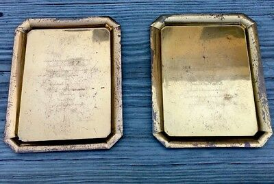 (Tiffany & Co. Printer's Plate Wedding And Ceremony Invitation Set 1928 Brooklyn)