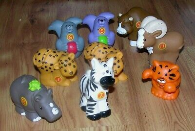 Lot Of 9 Fisher Price Little People Alphabet A To Z Learning Zoo Animals