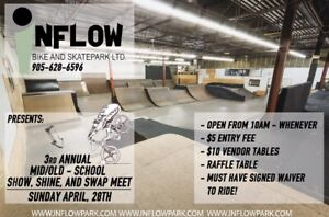 Inflow Old/Mid school BMX show shine and swap meet