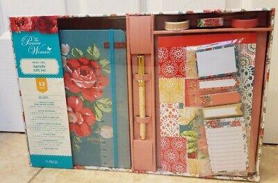 The Pioneer Woman Vintage Floral Agenda 2021 Gift Set Planner Organizer New