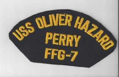 US Navy USS Oliver Hazard Perry FFG 7 Hat  Patch Vintage