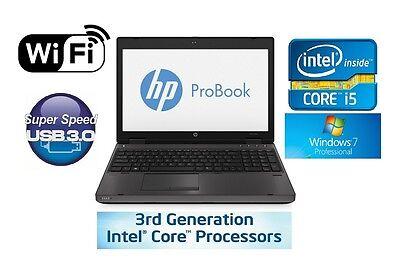 "Fast HP ProBook 6570b 15.6"" Windows 7 320GB Core i5 up to 3.3GHz 4GB DVDRW WiFi"