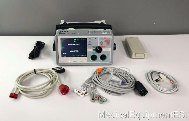 ZOLL E Series Biphasic 12 Lead ECG SpO2 Co2 Analyze Pace ETCo2 Patient Monitor