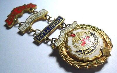 FREE WILL BAPTIST 2nd to 5th YEAR CROSS CROWN UNCAS SYSTEM PIN MEDAL GOLD (Baptist Medal Pin)