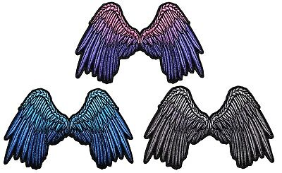 (Angel Wings Embroidered Iron On Patch - Cute Pretty Beautiful Biker )