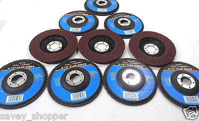 Sanding Disc 10 Pc. 4 12 Inch X 78 Flap 120 Grit Wheel Aluminum Oxide