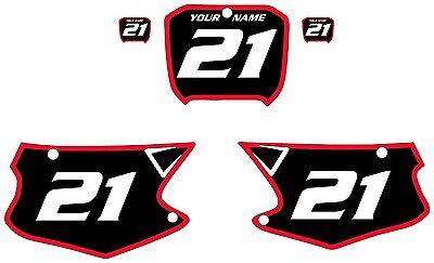 2000-2001 HONDA CR250 Custom Pre-Printed Black Backgrounds Red Bold Pinstripe