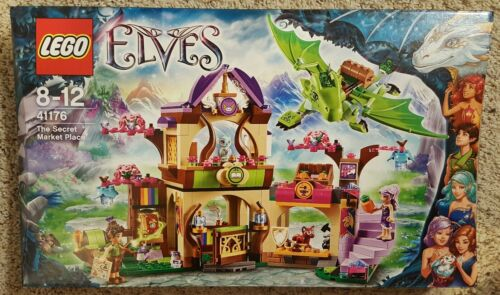 NEW IN BOX LEGO ELVES THE SECRET MARKET PLACE 41176 691 PIECES GREEN ...
