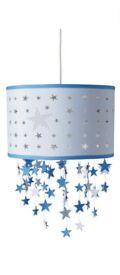 Laura Ashley blue stars mobile ceiling shade