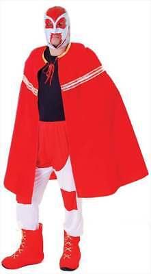 Tv Celebrity Halloween Costumes (MENS RED MEXICAN CHAMPION TV WRESTLER FANCY DRESS)