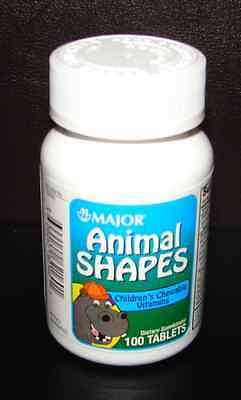 Major Childrens's Chewable Vitamins Animal Shapes (Flintstones Vites) 100ct](Animal Shapes)