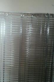 Chrome metal shelving / unit