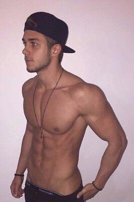 Shirtless Male Athletic Muscular Frat Jock Beefcake Cute Hunk PHOTO 4X6 D1004