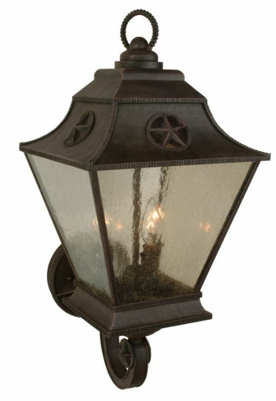 Chaparral 3 Light Outdoor Wall Lantern Rust-Z1410-07 NEW '