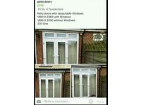 patio doors with detachable with windows