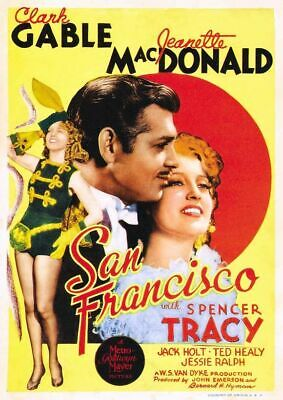 1936 Clark Gable (San Francisco - 1936 - Clark Gable Jeanette MacDonald Musical Drama Film DVD)