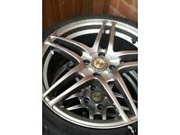 17 inch alloyed wheels