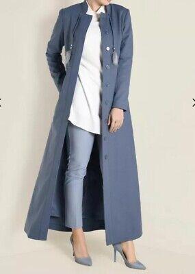 Alvina Women topcoat abaya Jilbab dress size 44  sky blue New Without Tag