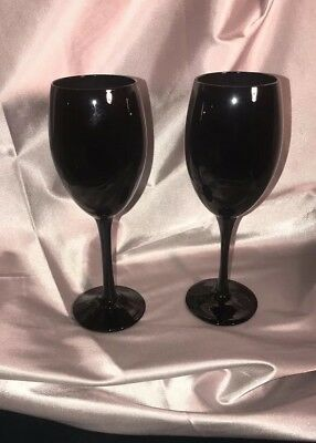Black Wine Glasses (New Artland 9 oz Midnight Black Wine Glasses, Set of)