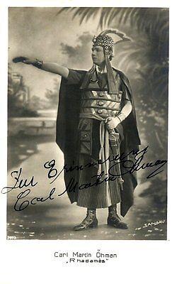 CARL MARTIN OHMAN opera tenor signed photo as Radames