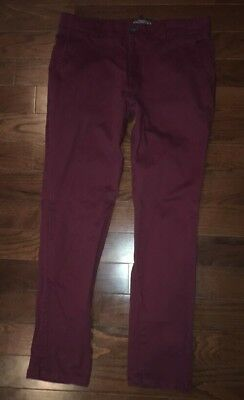 Superdry Workwear Womens Red Chino Style Pants Size L(34 X 30)