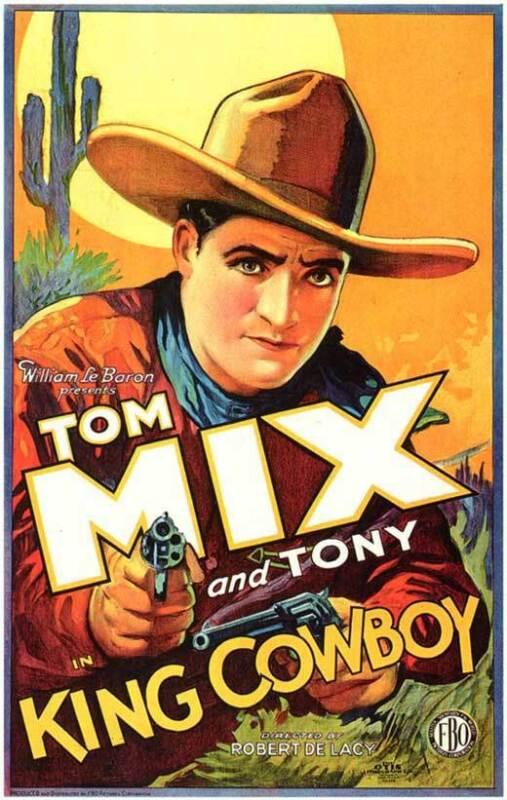 KING COWBOY Movie POSTER 27x40 B Tom Mix Sally Blane Lew Meehan Barney Furey