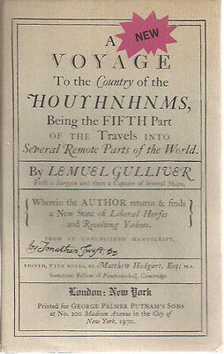 A VOYAGE TO THE COUNTRY OF THE HOUYHNHNMS Lemuel Gulliver (1970) Putnam's (A Voyage To The Country Of The Houyhnhnms)
