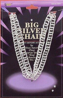 Big Daddy Halloween (Big Daddy Chain Necklace 70's Disco Pimp Silver Gold Halloween Costume)