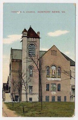1909 Newport News Va Trinity Me Church Revival Tonight Postcard
