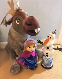 Disney Frozen plush soft toys Sven Olaf Anna