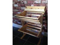 Wooden handmade veg rack