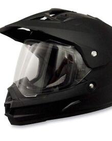 AFX FX-39 dual sport helmet matt black SMALL