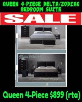 BRAND NEW Queen 4-Piece Bedroom Suite with STORAGE RRP $1199
