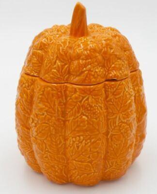 HomeWorx by Harry Slatkin Orange Embossed Ceramic Pumpkin