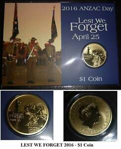 LEST WE FORGET 2016 Anzac Day UNC$1Coin-ROYAL AUST.ARMOURED CORPS Wembley Cambridge Area Preview