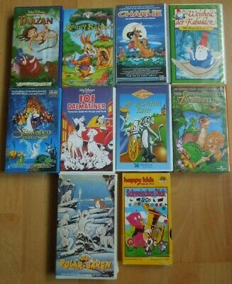 VHS 10 x Kinderfilme (happy kids, Walt Disney) Tarzan, Die Polar-Bären, Charlie