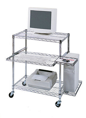 Luxor Wire Mobile Workstation Pullout Shelf Licw4218 Computer Workstation New