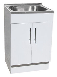 Designer Stainless Steel TOP Laundry TUB With Polyurethane Cabinet ...