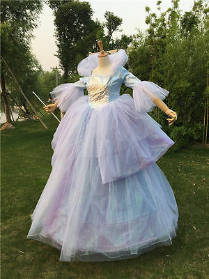 Adult Fairy Godmother queen dress Cinderella Halloween Cosplay Costume From US](Fairy Godmother Halloween)