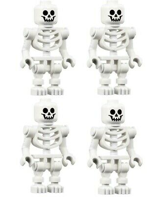 4 NEW LEGO SKELETON LOT halloween minifig minifigure figure pirates castle toy